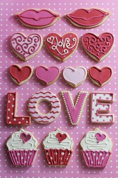 valentine using letter cookie cutters and heart cookie cutters http://www.cookiecuttercompany.com/