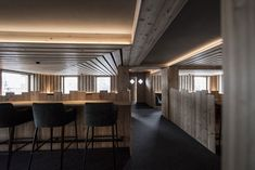 The 'Zallinger Refuge Hotel' in Seiser Alm, an alpine region in Italy known for its picturesque ski slopes, has had a recent refurbishment by Bolzano. Italy Architecture, Mountain Resort, Small Patio, Lounge Areas, Cool Furniture, Skiing, Interior Design, Home Decor, Gallery