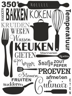 Kitchen art in Dutch Kitchen Canvas Art, Kitchen Art, Kitchen Decor, Restaurant Quotes, Dutch Kitchen, Kitchen Quotes, Cooking Quotes, English Writing Skills, Hand Lettering Fonts