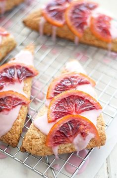 blood orange scones | ahappyfooddance. Delicious scones for an early spring brunch or shower. Pretty to look at, delicious to eat!