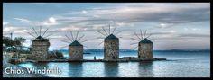 Chios windmills, Greece
