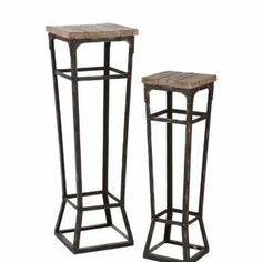 angelo:HOME Bowery 2 pc. Pedestal Set by Southern Enterprises. $139.98. Some assembly may be required. Please see product details.. Living Room->Coffee and Occasional Tables->Side Tables. angelo:HOME Bowery 2pc Pedestal Set Distressed Natural. Living Room. Give your plants or special home decor items a stylish place to rest with the angelo:HOME Bowery 2pc Pedestal Set. This two-piece pedestal set features solid fir wood tops with an aged finish, metal frames wit...