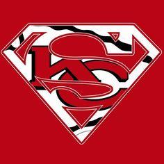 KANSAS CITY CHIEFS...........SUPERMEN Would male an awesome logo on a shirt.