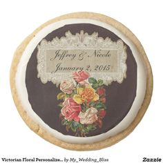 Victorian Floral Personalized Wedding Cookies