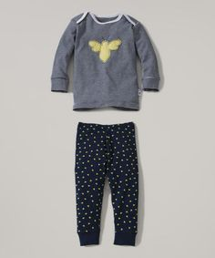 Look what I found on #zulily! Daffodil Bee Organic Lap Neck Pajama Set - Infant by Burt's Bees Baby #zulilyfinds
