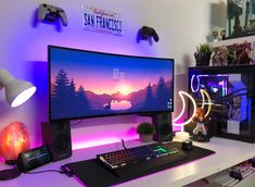 Buy your own games in Aviatorgaming store Best Gaming Setup, Gamer Setup, Gaming Room Setup, Pc Setup, Computer Gaming Room, Computer Desk Setup, Gaming Rooms, Bedroom Setup, Room Ideas Bedroom