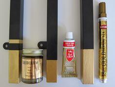 Gold leaf paint options (used on Ikea Vittsjo table)