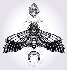 47933510-butterfly-moth-with-moons-and-stones-elegant-design-tattoo-art-isolated-vector-illustration-trendy-v.jpg (430×450)