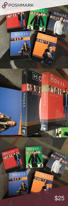 House T.V. Series 👨🔬⛑🚑 Seasons 1-5 ⛑🚑 Season 3 and 5 not opened yet ⛑🚑 price includes all 5 Seasons Accessories