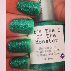 Another Halloweenie special! It's The I Of The Monster will make all your friends green with envy! A beautiful dark teal, It's The I Of The Monster is Lulabelle's take on the green eyed monster, with a little glitter of course (what would life be without glitter, seriously)!