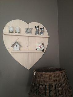 Leuk houten decoratie hart
