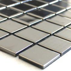 Glasmozaïek Tegels Zilver Uni 25x25x4mm
