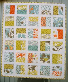 Simple block quilt... May be a good place for me to start!