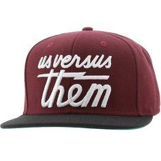 Us Versus Them Magnum Snapback Cap (burgundy) 631009-BUR - $26.00
