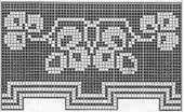 59 Free Crochet Patterns for Edgings, Trims, and Blanket Borders: 26. Clover Filet Crochet Edging Pattern