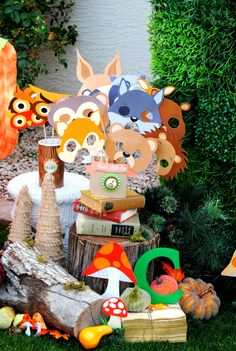 Welcome to KROWN KREATIONS & CELEBRATIONS! Over The River & Thru The Woods to a BEAUTIFUL Baby Shower filled with Charming little animals and into Enchanting forest life! This listing is for an INSTAN