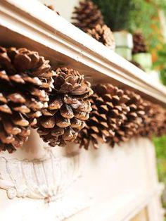 Tannenzapfen Deko basteln und das Haus stimmungsvoll dekorieren