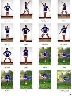 basic cheerleading moves for beginners - Bing Images Cheer Dance Routines, Cheer Moves, Cheer Jumps, Cheer Practice, Cheerleading Tryouts, Cheerleaders, Cheer Stunts, Cheer Coaches, Team Cheer
