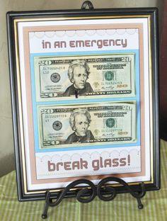 In case of emergency (example - ice cream), break glass!