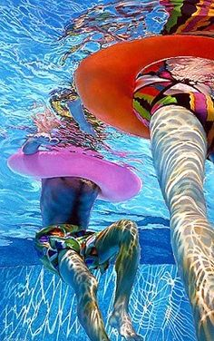 An incredible modern artist who paints huge larger than life hyper-real oil paintings. Her swimming portraits are stunning! Underwater Painting, Impressionist Paintings, Oil Paintings, A Level Art, Modern Artists, Underwater Photography, Figure Painting, Beautiful Paintings, Figurative Art