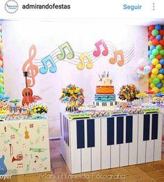 34 ideas birthday girl second kids Music Theme Birthday, Rockstar Birthday, Dance Party Birthday, Music Themed Parties, Baby Boy 1st Birthday, 1st Birthday Parties, Music Party Decorations, Table Decorations, Party Ideas