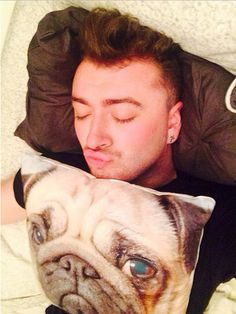 When you thought he'd reached peak perfection, but then he went and threw a pug cushion into the mix.