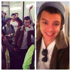 I dont know if I should freak out because Harry is wearing Lou's beanie or if Harry actually took a selfie