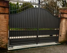 Front Gate Design, Steel Gate Design, Door Gate Design, Front Gates, Entrance Gates, Driveway Gate, Fence Gate, Privacy Fence Designs, Sliding Gate