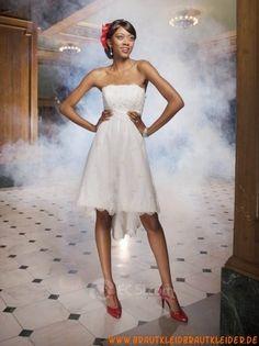 uniques   Brautkleid  aus Satin A-Linie