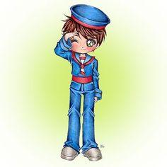 Robbie Sailor Boy Digi Stamp in Digital images