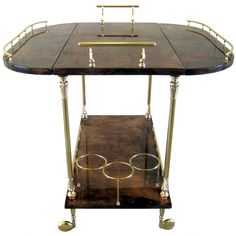 An Italian Drinks Trolley by Aldo Tura.  C. 1950's