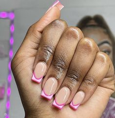 Gel Acrylic Nails, Fire Nails, Short Nails, Nail Inspo, How To Do Nails, Barbie, Make Up, Nail Art, Pink