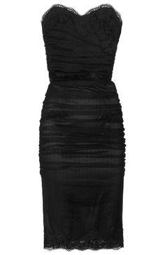 DOLCE & GABBANA Cotton-blend lace bustier dress