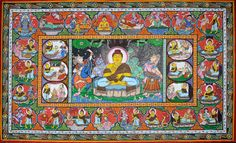 The Temptation of Shakyamuni Buddha by Mara and the Scenes from His Worldly Life