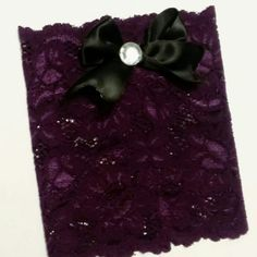 NEW COLOR!!!  Purple lace boot cuffs with classy bow!  Www.etsy.com/shop/MostBeautifulDesigns