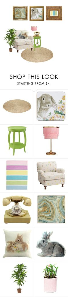 """Bun bun"" by my-dog-loves-peep ❤ liked on Polyvore featuring interior, interiors, interior design, home, home decor, interior decorating, Laura Ashley, Pier 1 Imports, PBteen and Unitex International"