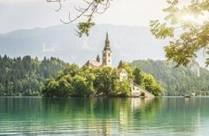 Whether it's a Gaudí-designed masterpiece in Barcelona, an underground cathedral in Ethiopia, or a tiny stone chapel in New Zealand, there's no denying the aesthetic draw of churches. Oh The Places You'll Go, Places To Visit, Tower Of Power, Bled Slovenia, Lake Bled, Place Of Worship, Kirchen, Ciel, Wonders Of The World