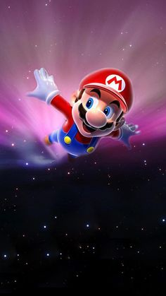 Super Mario Flying Poster Background iPhone 6 wallpaper