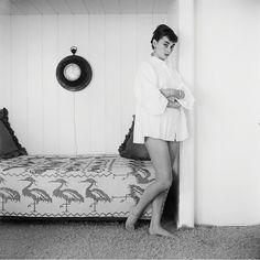 Audrey Hepburn at home in Los Angeles 1953.