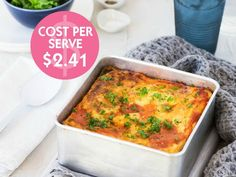 Lasagna is often a family favourite and this Budget Friendly Spinach & Sweet Potato Lasagna recipe offers a vegetarian and pasta free option.