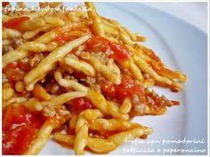 Trofie con pomodorini, salsiccia e peperoncino, Ricetta Petitchef