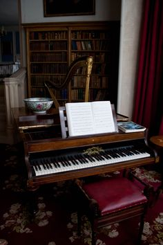 lovely music room http://pinterest.com/cameronpiano