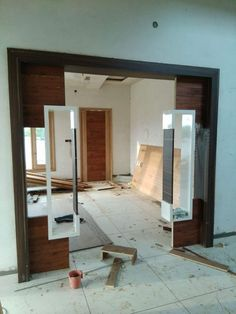 Wood Partition, Living Room Partition Design, Room Partition Designs, Room Door Design, Tv Wall Design, Ceiling Design, Wood Design, Home Entrance Decor, Entrance Design
