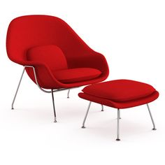 Knoll Womb Chair by Eero Saarinen (8,015 CAD) ❤ liked on Polyvore featuring home, furniture, chairs, accent chairs, chair, fiberglass shell chair, colored furniture, molded chair, knoll chair and knoll furniture