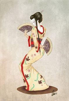 Geisha by dennia.deviantart.com on @deviantART