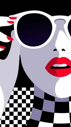 Malika Favre woman in sunglasses art. – -… Malika Favre woman in sunglasses art. – – Illustration – Related posts:They dreW THE OTHER EYE. Pop Art Drawing, Art Drawings, Poster Drawing, Tableau Pop Art, L'art Du Portrait, Female Portrait, Arte Fashion, Pop Art Fashion, Fashion Black
