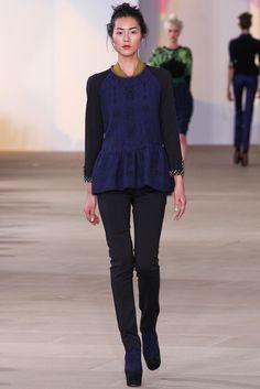 Fall 2012 Ready-to-Wear  Preen by Thornton Bregazzi  Model  Liu Wen (The Society)