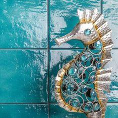 Ivy Hill Tile Appaloosa x Porcelain Field Tile Color: Teal Tin Tiles, Glass Mosaic Tiles, Stone Mosaic, Wall Tiles, Arabesque Tile, Buy Tile, Unique Tile, Ceramic Subway Tile, Look Vintage