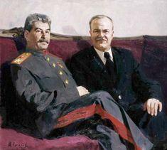 Stalin and Molotov Hetalia Russia, Communist Propaganda, Joseph Stalin, Social Realism, Soviet Art, Power To The People, Communism, History Books, People Around The World