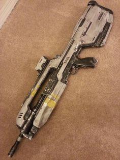 Halo 4 Battle Rifle (finished). $250.00, via Etsy.